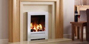 Flueless gas fires and warm fireplace