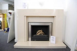 white colour electric fireplace